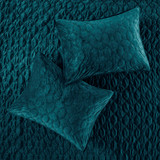 Harper Teal Velvet Coverlet Set-King details 2