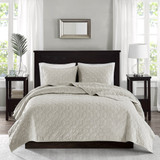 Harper Ivory Velvet Coverlet Set-Queen
