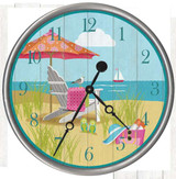 Sitting Pretty Beach Clock - Custom