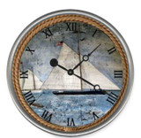 The Schooner Nautical Custom Clock