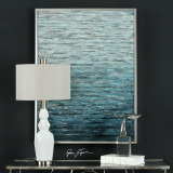 Blue Abstract Filtered Water Wall Art