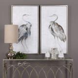Summer Shore Birds Framed Art - Set of 2 room view