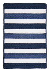 Portico Blue Nautical Stripes Rug