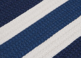 Portico Blue Nautical Stripes Rug close up