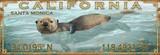Otter Love Latitude-Longitude Beach Sign