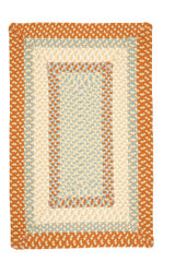 Montego Tangerine Twist Braided Area Rug