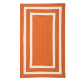 Tangerine La Playa Braided Area Rug