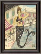 Wined and Dined Mermaid Wall Art