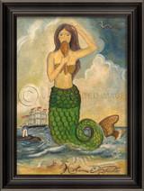 The Mermaid Looking In Mirror Art