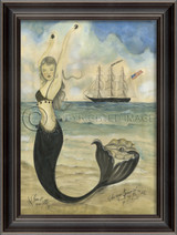 Black Pearl Oyster Lounge Mermaid Wall Art
