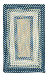 Montego Blue Burst Twist Braided Area Rug