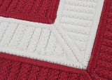 Rope Walk Red and White Rug