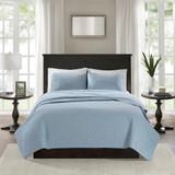 Hudson Bay Blue Quilted King Size Coverlet Set
