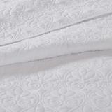 Hudson Bay White Coverlet Set close up