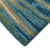 Ocean Reflection Hand-Tufted Wool Rug corner