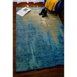 Ocean Reflection Hand-Tufted Wool Rug room view