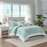 Aqua Blue Coastline Comforter Collection - Full Size room view 2