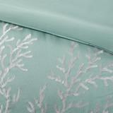Aqua Blue Coastline Comforter Collection - Full Size comforter close up