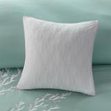 Aqua Blue Coastline Comforter Collection - Queen Size with deco pillows 2