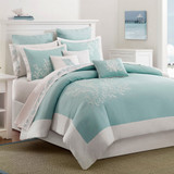 Aqua Blue Coastline Bedding