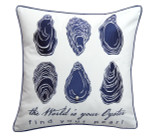 The World is Your Oyster Embroidered Pillow
