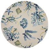 Harbor Blue Oceania Indoor-Outdoor Rug round image