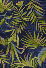 Ink Blue Playa Tropical Indoor-Outdoor Rug