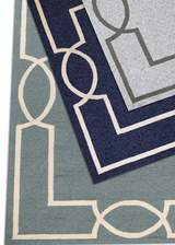Hamptons Ocean Blue Madison Rug by Libby Langdon corners