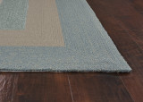 Hamptons Highview Border Rug by Libby Langdon - Spa Blue corner image