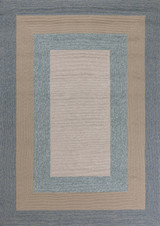 Hamptons Highview Border Rug by Libby Langdon - Spa Blue