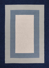 Hamptons Highview Border Rug by Libby Langdon - Navy Blue