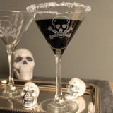 Skull and Cross Bones Martini Glasses styling image