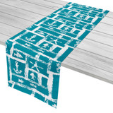 Turquoise Ocean Squares Table Runner