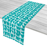 Sailing Regatta Aqua Table Runner