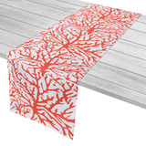 Coral-Orange Coral Table Runner