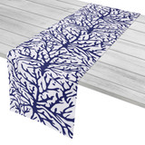 Coral Navy Blue Table Runner