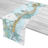 Islamorada Florida Nautical Chart Table Runner
