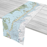 Long Beach Island-New Jersey Nautical Chart Table Runner