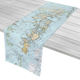 Lower Florida Keys and Key West to Little Pine Key Florida Nautical Chart Table Runner