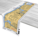 Yaquina Bay Nautical Chart Table Runner