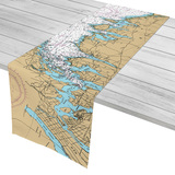 Long Island Sound Nautical Chart Table runner