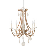 By the Sea Rope Wrapped Chandelier