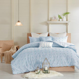 Rockaway Beach Light Blue King Duvet Set 1