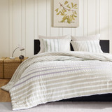 Sutton Dune Striped Queen Size Duvet Bedding