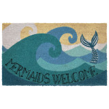 Mermaids Welcome Natura Coir Door Mat