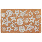 White Shell Scatter Natura Coir Door Mat