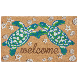 Sea Turtle Welcome Natura Coir Door Mat