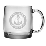Custom Coordinates Anchor Coffee Mug Set of 4
