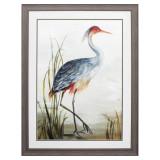 Shore Grey Heron Framed Art