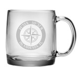 Custom Coordinates Compass Rose Coffee Mug Set of 4